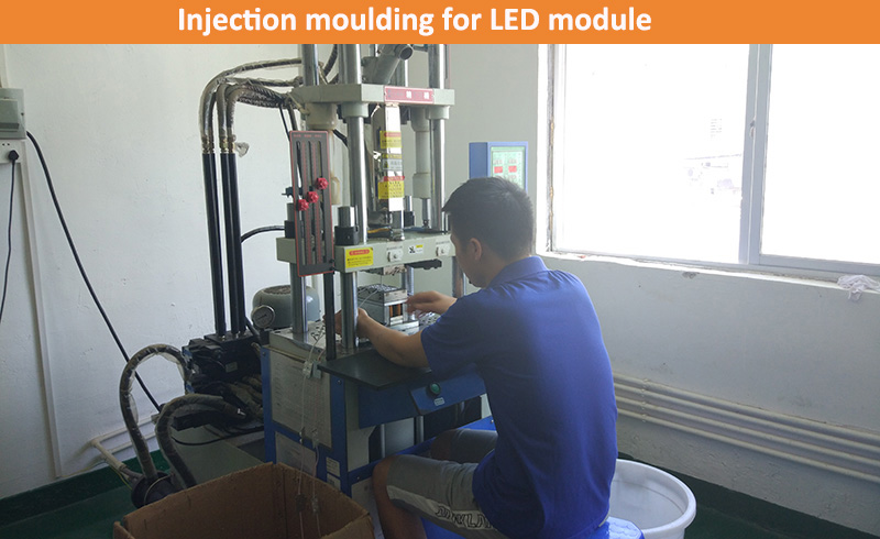 Injection moulding for LED module (up-energy lighting)