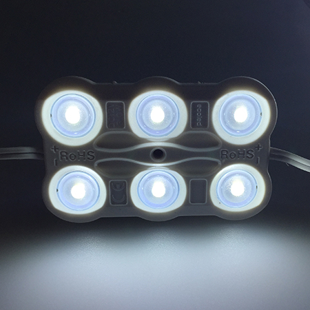 12V 6LEDs 2835 injection with Lens led module for signs