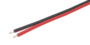 2468 red black 26-18AWG lead wire