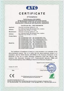 Rohs certification from LED strip factory