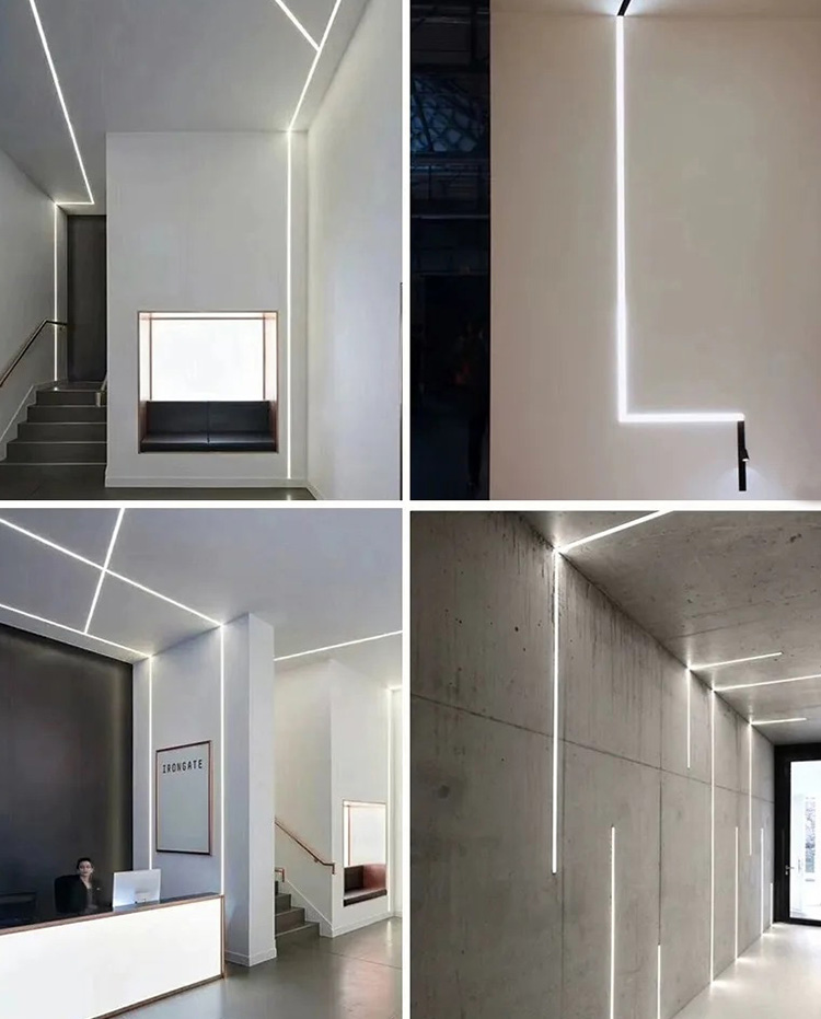 Surface mounted and embedded linear light