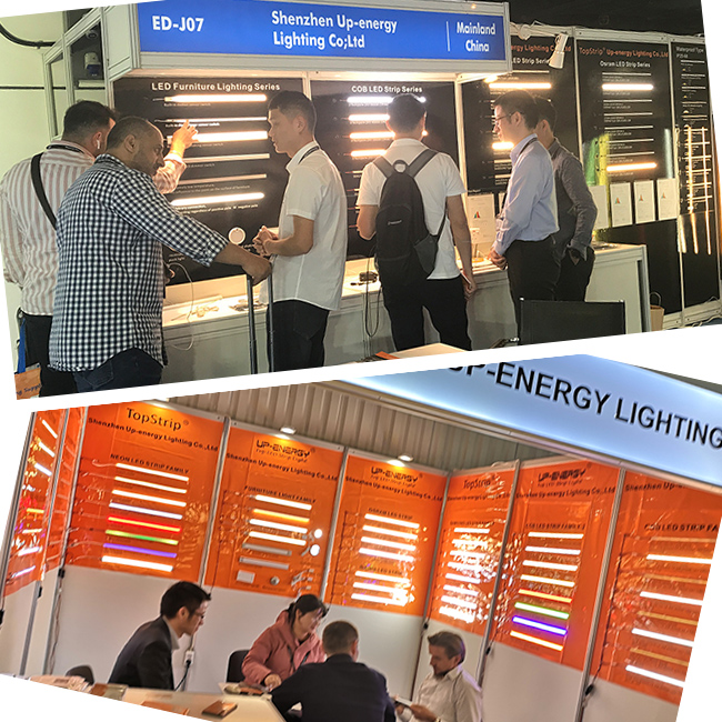 Exhibition Up-energy led strip light manufacturers
